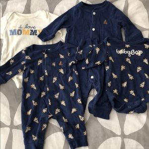 Bundle of 4: Baby GAP onesies & one piece outfits